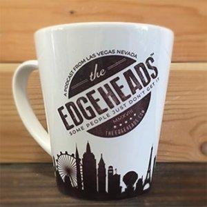Edgeheads badge mug